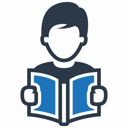 library, reading, studying icon