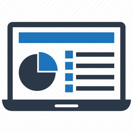 Chart, data, graph, laptop icon - Download on Iconfinder