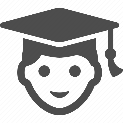 avatar, boy, graduation cap, graduation hat, people, student icon