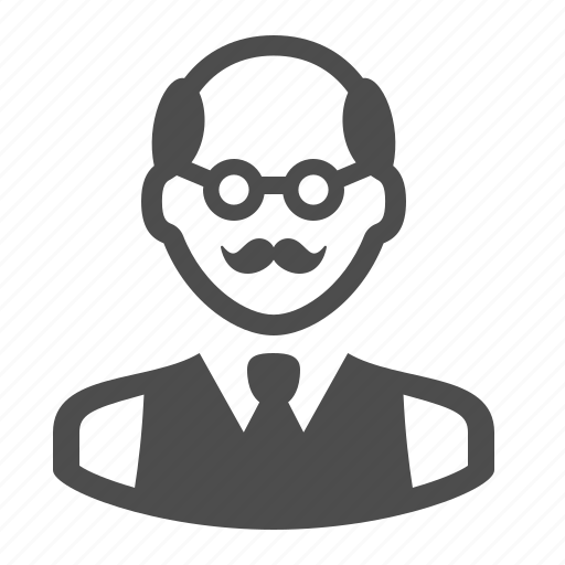 Bald, businessman, job, man, mustache, people, teacher icon - Download on Iconfinder