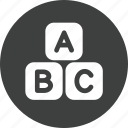 abc, education, learn, learning, reading, study icon