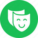 comedy, drama, education, learn, learning, masks, reading, study icon