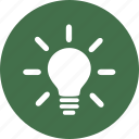 bulb, education, learn, learning, light, reading, study icon