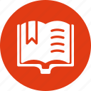 book, education, learn, learning, open, reading, study icon