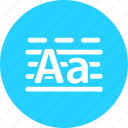 case, education, learn, learning, letter, lower, reading, study, upper icon