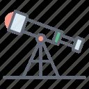 camping equipment, field glasses, opera glasses, spyglass, telescope icon