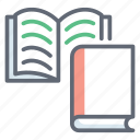 archives, books, educational books, library, novels, reading book icon