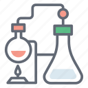 chemical testing, chemistry, chemistry lab, lab practical, science education icon