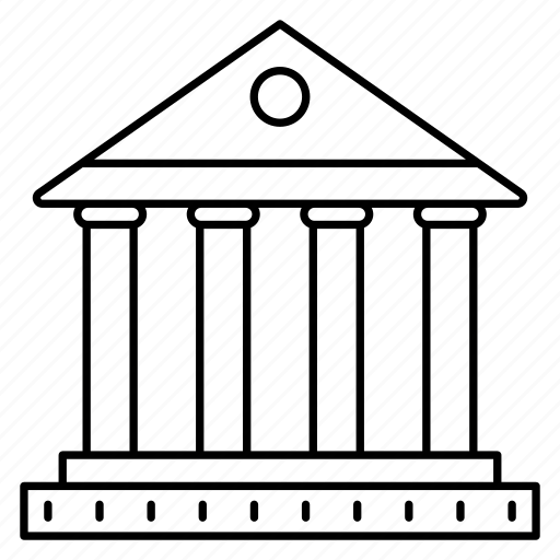 bank, building, court, finance, property icon