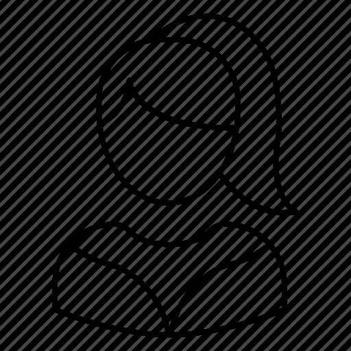 avatar, female, girl, student, women icon