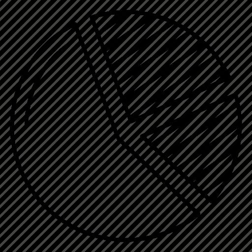 chart, diagram, graph, pie, statistic icon