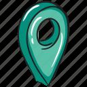 geolocation, gps, location, location pointer, navigation icon