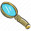 exploration, loupe, magnifier, magnifying glass, research equipment icon