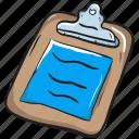 clipboard paper, exam paper, exam sheet, test sheet, text sheet icon