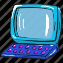 desktop, home computer, pc, personal computer, vintage computer icon