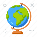 education, geography, school icon