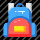 bag, education, school