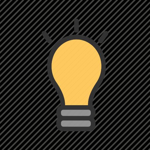 bulb, color, electric, electricity, energy, light, lightbulb icon