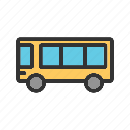 bus, drive, education, safety, school, transportation, vehicle icon