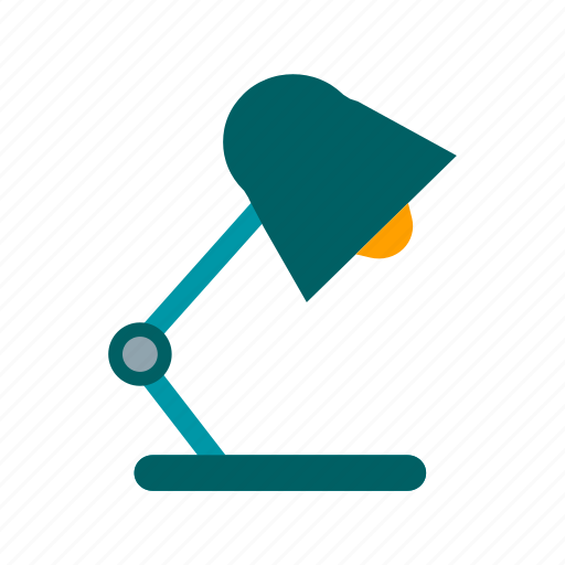 bulb, decoration, electricity, lamp, light, study, table icon
