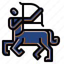 astrology, sagittarius, sign, zodiac icon