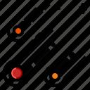 asteroid, comet, meteor, meteorite, space icon