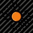 sun, sunshine, heat, sunlight icon