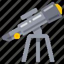 spyglass, telescope, vision icon