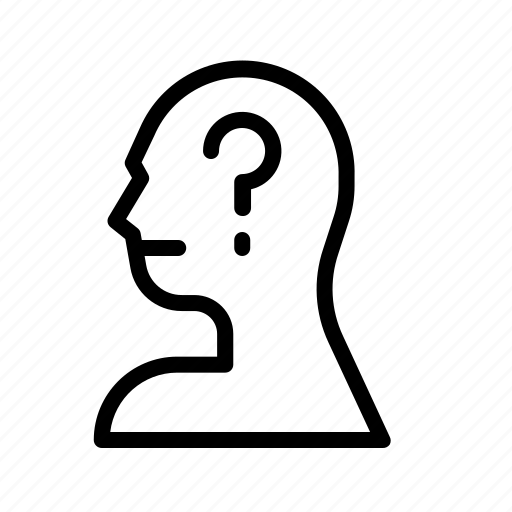 avatar, face, person, questioning icon