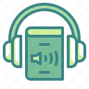 audio, book, headphone, learn, multimedia icon