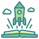 business, computer, edtech, finance, rocket, startup icon