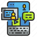 app, education, learning, mobile, phone icon