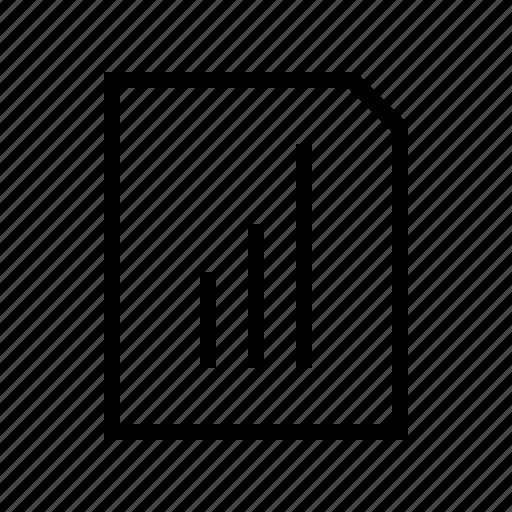 document, education, learning, school, statistics, university icon