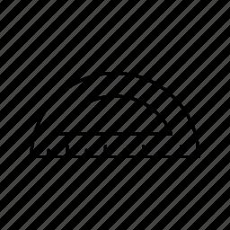 protractor, set, square icon