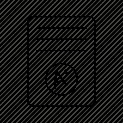 a+, grade, result card icon