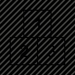 blocks, cubes, ranking icon
