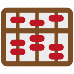 abacus, calculate, calculator, learning, math, school, study icon