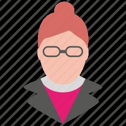 avatar, female, professor, profile, teacher, user, woman icon