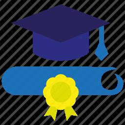 diploma, education, graduation, knowledge, school, student, university icon