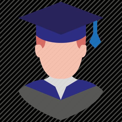 avatar, boy, graduation, male, man, school boy, user icon