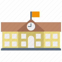 building, education, high, learning, school, student, study icon