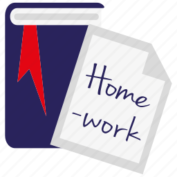 document, education, file, homework, paper, school, study icon