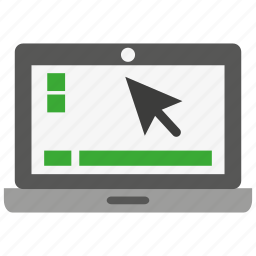computer, display, laptop, notebook, pc, screen, technology icon