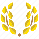 achievement, award, decoration, laurel, laurel wreath, prize, wreath icon