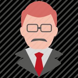 avatar, male, man, person, professor, profile, teacher icon