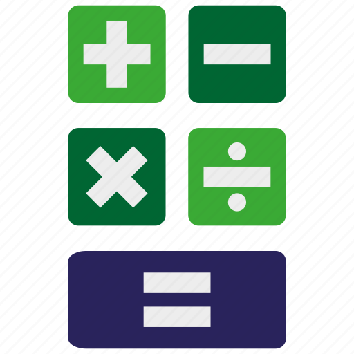 calculator, education, learning, math, mathematics, maths, study icon