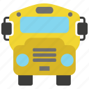 bus, education, learning, school, schoolbus, student, vehicle icon