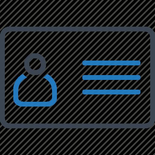 card, id, identity icon
