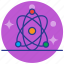 atom, education, research, study icon