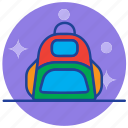 backpack, bag, education, school, study icon